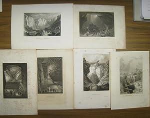 Konvolut dekorativer Bergwerksmotive. Aus: Meyer's Universum oder: Meyer, J. -