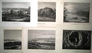 Konvolut dekorativer Seen-, Fluß- und Landschaftsansichten aus: Meyer, J. -