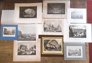 Konvolut von 10 dekorativen Landschafts- Architektur- und: Meyer, J. -