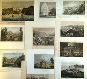 Konvolut dekorativer Landschafts- Architektur- und Stadtansichten aus: Meyer, J. -