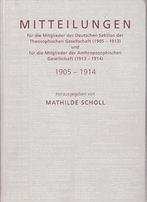 Mitteilungen für die Mitglieder der Deutschen Sektion: Steiner, Rudolf. -