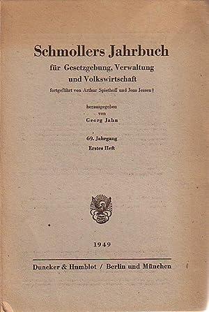 Schmollers Jahrbuch für Gesetzgebung, Verwaltung und Volkswirtschaft.: Jahn, Georg (Hrsg.).