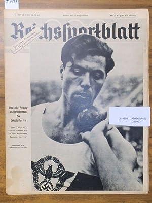 Reichssportblatt. 7. Jahr, Nr. 33 vom 13.: Reichssportblatt. - Reetz,