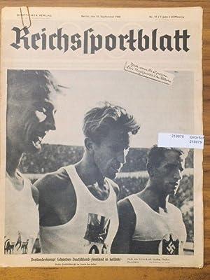 Reichssportblatt. 7. Jahr, Nr. 37 vom 10.: Reichssportblatt. - Reetz,