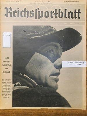 Reichssportblatt. 8. Jahr, Nr. 3 vom 21.: Reichs-Sportblatt. - Reetz,