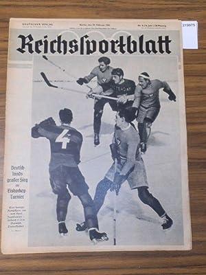 Reichssportblatt. 8. Jahr, Nr. 8 vom 25.: Reichssportblatt. - Reetz,
