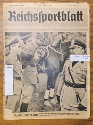 Reichssportblatt. 6. Jahr, Nr. 19 vom 9.: Reichssportblatt. - Reetz,