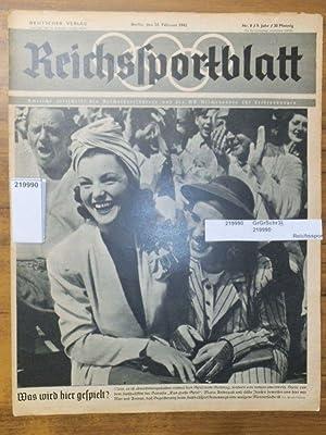 Reichssportblatt. 9. Jahr, Nr. 8 vom 24.: Reichssportblatt. - Reetz,