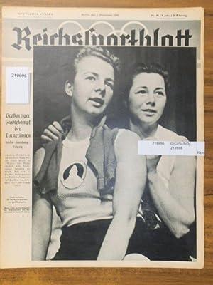 Reichssportblatt. 8. Jahr, Nr. 48 vom 2.: Reichssportblatt. - Reetz,