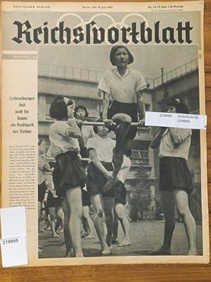 Reichssportblatt. 9. Jahr, Nr. 24 vom 16.: Reichssportblatt. - Reetz,