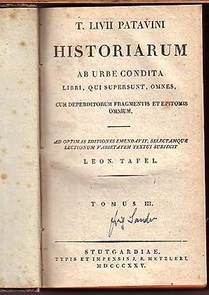 T. Livii Patavini Historiarum ab urbe condita: Livius Patavinus, Titus: