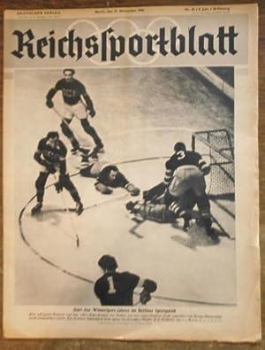 Reichssportblatt. 8. Jahr, Nr. 45 vom 11.: Reichssportblatt. - Reetz,