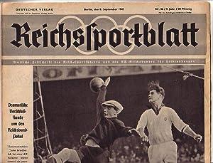 Reichssportblatt. 9. Jahr, Nr. 36 vom 8.: Reichssportblatt. - Reetz,