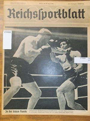 Reichssportblatt. 8. Jahr, Nr. 17 vom 29.: Reichssportblatt. - Reetz,