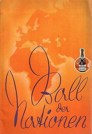Programm - Heft: Ball der Nationen. Große: Beyer, Paul und