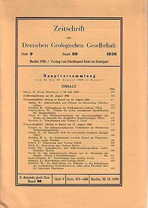 Zeitschrift der Deutschen Geologischen Gesellschaft. Band 88,: Zeitschrift der Deutschen