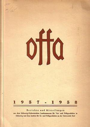 Offa - Band 16, 1957 - 58.: Schwabedissen, Hermann /