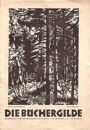 Die Büchergilde. Zeitschrift der Büchergilde Gutenberg. Oktober: Büchergilde, Die: