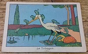 Chromolithographie Benjamin Rabier 'Le Tobogan': Rabier Benjamin