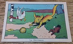 Chromolithographie Benjamin Rabier 'Le Hérisson': Rabier Benjamin