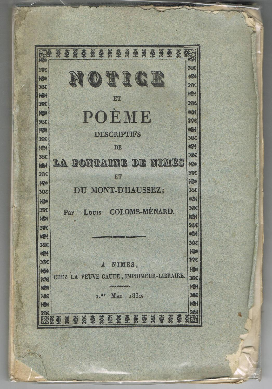Notice Et Poeme Descriptifs De La Fontaine
