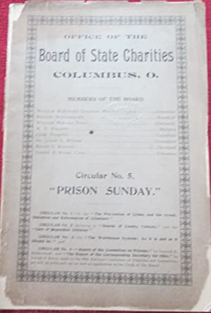 Prison Sunday. Issued by The Ohio Board of State Charities. Circular No. 5: No Author Given