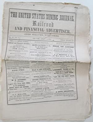 The United States Mining Journal, Railroad and Financial Advertiser. January 2, 1864. Vol. 24. No. ...