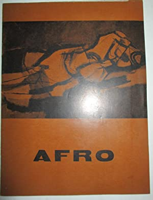 Afro. Exhibition of Paintings April 25 to May 21, 1955: Afro (artist). Venturi, Lionello