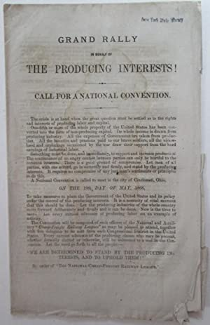 Grand Rally in Behalf of the Producing Interests! Call for a National Convention. (Caption title).:...