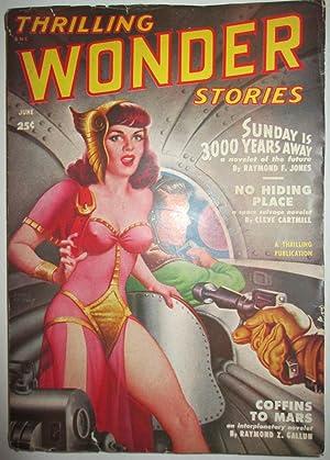 Thrilling Wonder Stories. June, 1950. Vol. XXXVI, No. 2: Cartmill, Cleve; Jones, Raymond F.; Gallun...