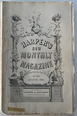 Harper's New Monthly Magazine. August, 1868: Various Authors