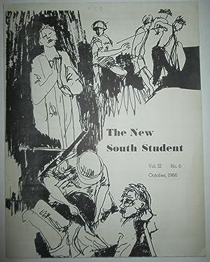 The New South Student. Vol. III. No. 6. October, 1966: Nolan, David; Stilley, Ronda; Guerrero, Gene...