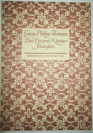 Drei Dutzend Klavierfantasien. (Fantaisies Pour Le Clavessin, 3 Douzaines). Three Dozen Clavier ...