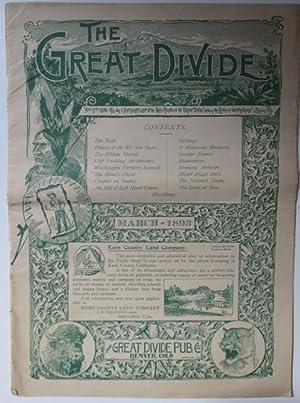 The Great Divide. March, 1893. Vol. IX No. 1.: Various Authors