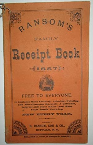 Ransom's Family Receipt Book 1887: No author Given