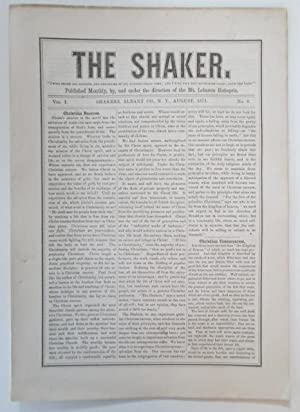 The Shaker. August, 1871. Vol. 1, No. 8.: Various Authors
