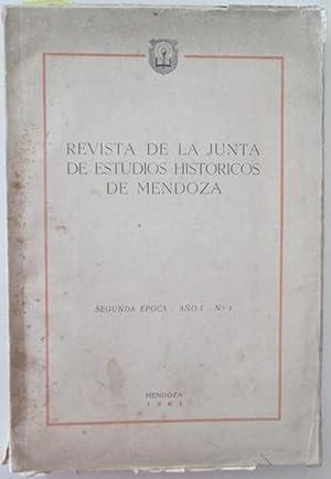 Revista de la Junta de Estudios Historicos de Mendoza. Segunda Epoca. Ano 1. No. 1. Junta de ...