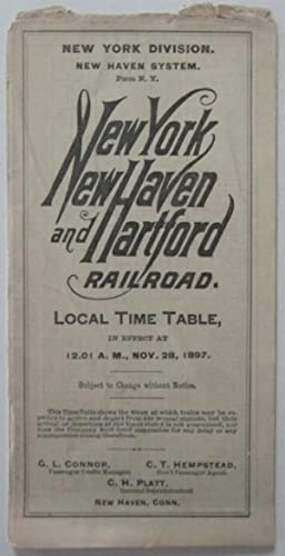 New York, New Haven, and Hartford Railroad. Local Time Table, in effect at 12:01 A.M., Nov. 28, ...
