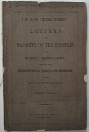"""A key to the """"Trustee's Statement"""" Letters to the majority of the trustees of the ..."""
