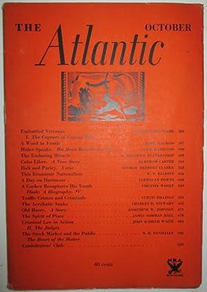 The Atlantic Monthly. October 1933: Woolf, Virginia et al.