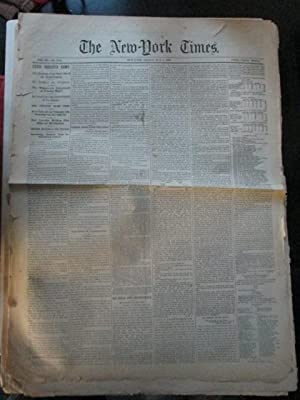 The New York Times. Friday, May 8, 1863. With News on the Civil War: Various Authors