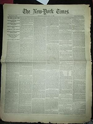 The New York Times. Tuesday July,14 1863. With News on the Civil War.: Various authors