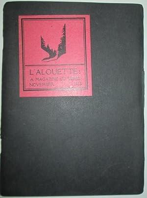 L'Alouette: A Magazine of Verse. November, 1933: Coe, Merwin; Austin, Carolyn; Greenberg, Jack...