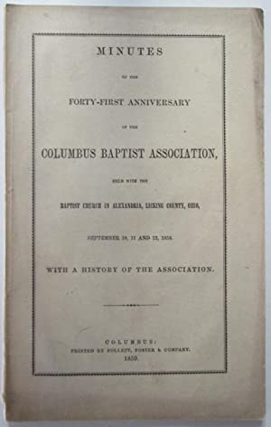 Drake, Jacob; Randall, D.A. et al: Minutes of the Forty-First Anniversary of the Columbus Baptist ...