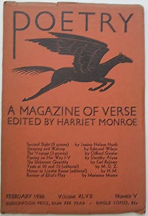 Poetry. A Magazine of Verse. February 1936.: Wilson, Edmund; Moore, Marianne, et al