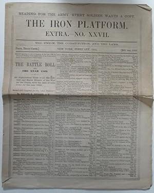 The Iron Platform. Extra. No. XXVII. February 1863: Various Authors