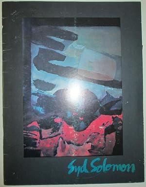 Syd Solomon. A Retrospective Showing. December 5,: Vonnegut, Kurt (interviewer);