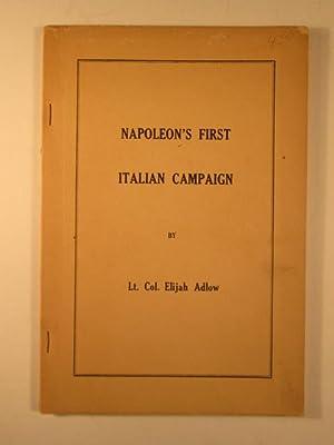 Napoleon's First Italian Campaign: Adlow, Elijah Lt. Col.