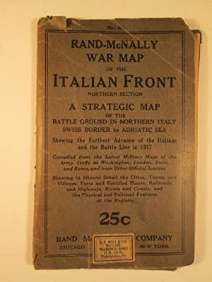 Rand-McNally War Map of the Italian Front Northern Section. A Strategic Map of the Battle Ground in...