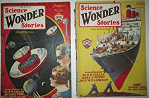 Science Wonder Stories. July and August, 1929. Vol 1, Nos. 2 and 3: Williamson, Jack; Vincent, Harl...